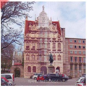 "Werkgruppe ""Pellerhaus"" Nürnberg. Damals - Jetzt (1944/1957/1605)"